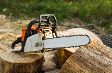 sharpened chainsaw
