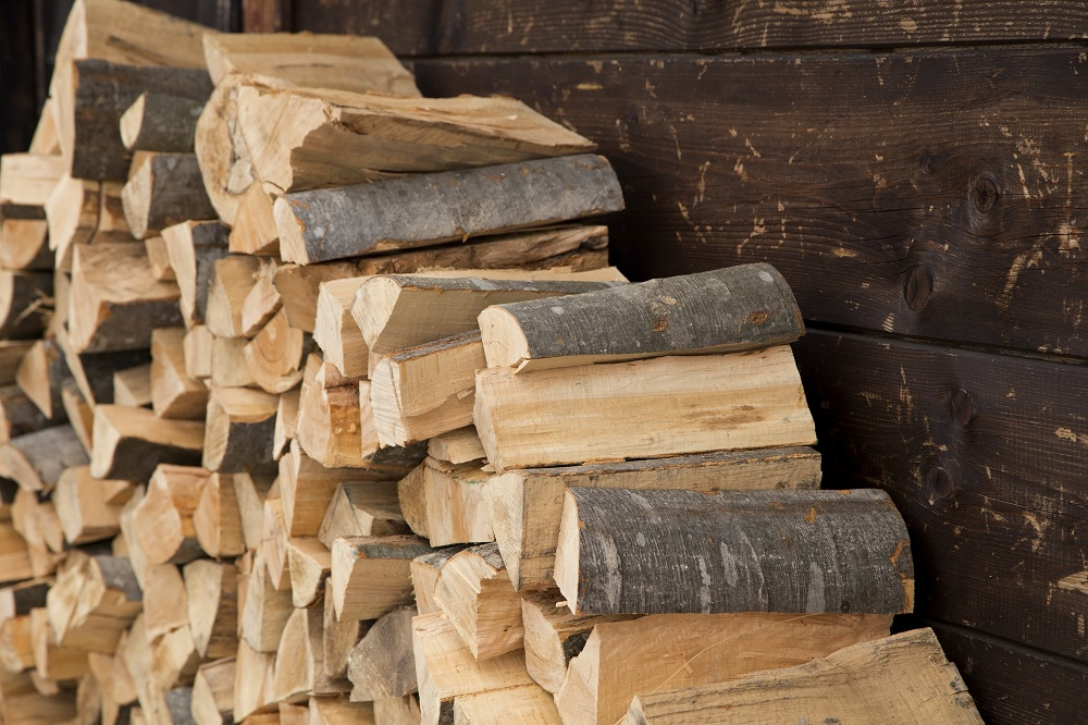 stacking wood safely