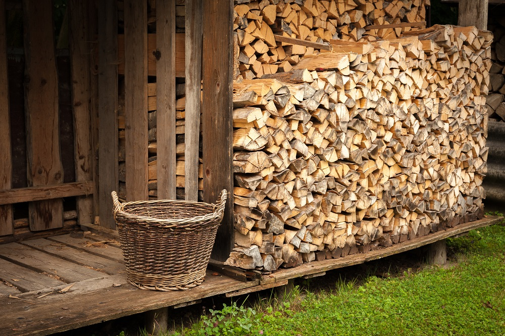 properly stacked firewood
